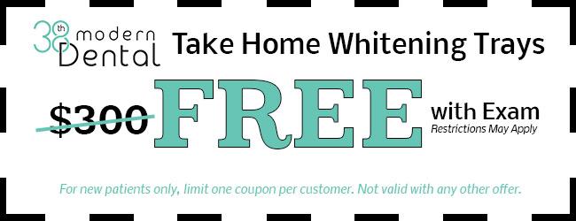 Take Home Whitening Trays Coupon